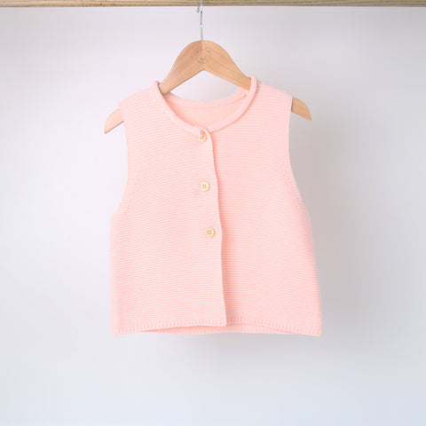 Infant & Toddlers Girls Sleeveless Cardigan