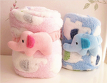 Swaddle Your Baby With Soft Fleece Baby Blanket- Pack of 2 Blue & Pink