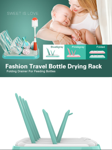 BPA Free Portable Foldable Baby Bottles Drying Rack