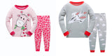 100% Cotton Kids Pajama Set 2 Pack- Red & Gray