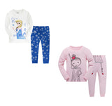 100% Cottons Kids Pajama Set 2 Pack - Pink & White