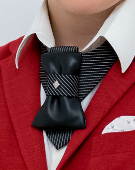 Meet a unique accessory - mix of a bow tie and a tie