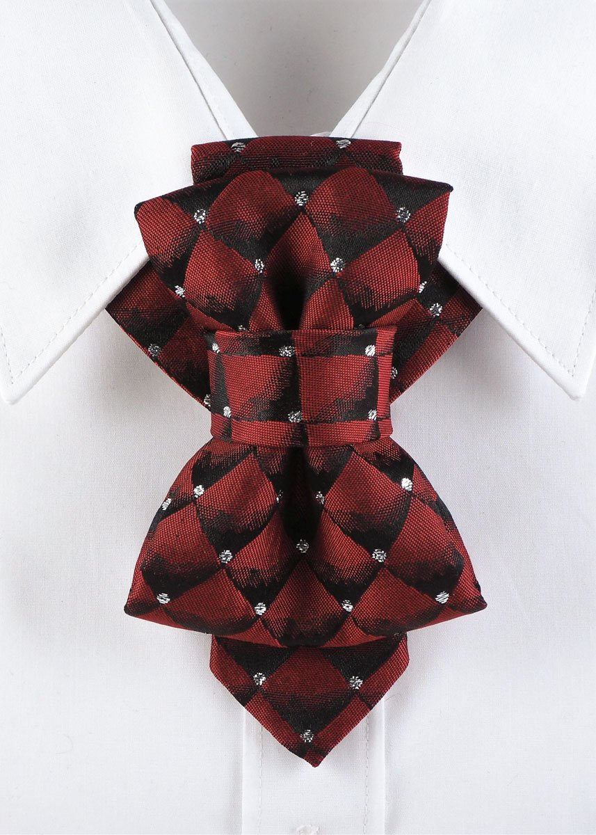 Bow Tie, Tie for wedding suite BURGUNDY DIAMOND hopper tie Bow tie Wedding Ties for Grooms and Groomsmen