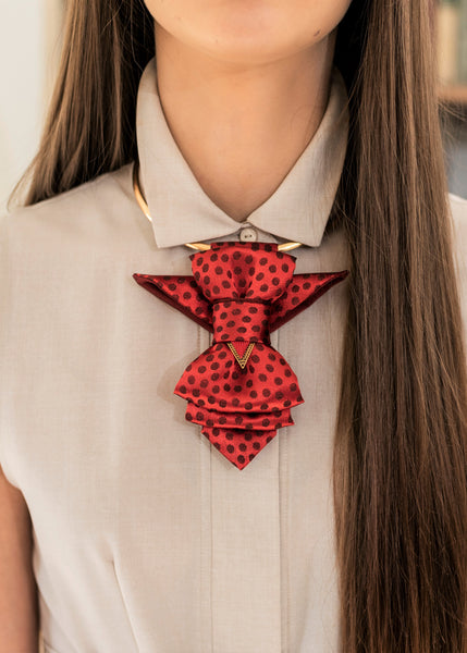 HOPPER TIE THE RED BIRD bow tie