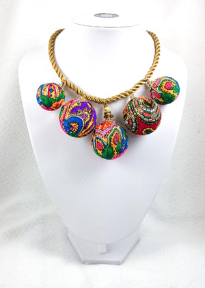 BUBBLE BEAD NECKLACE EXOTIC ORIENTAL STORY
