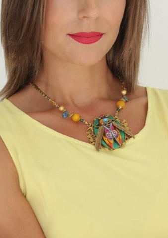 NECKLACE GAMA created by artist Marijus Piekuras created by painter Marijus Piekuras