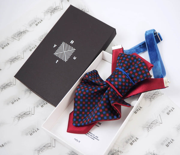 Hopper bow tie Ruty Design Bow Tie Original vertical bow tie Hand made, tie for women with gift pack
