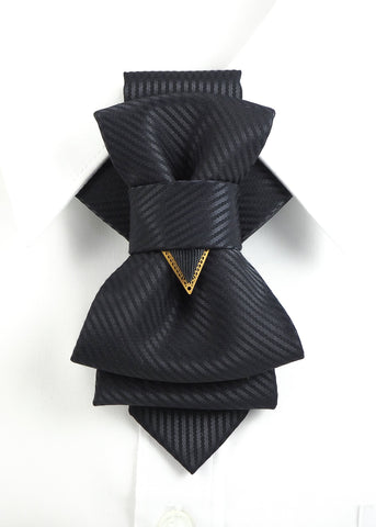 Bow Tie, Tie for wedding suite BLACK LINE hopper tie Bow tie, Tie for the wedding suite,  Vilnius bow tie, Lithuanian bow tie, Elegant tie