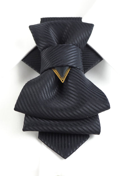Bow Tie, Tie for wedding suite BLACK LINE hopper tie Bow tie, Tie for the wedding suite,  Vilnius bow tie, Lithuanian bow tie