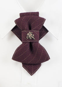 Bow Tie, Tie for wedding suite VYTIS MERLOT hopper tie Bow tie