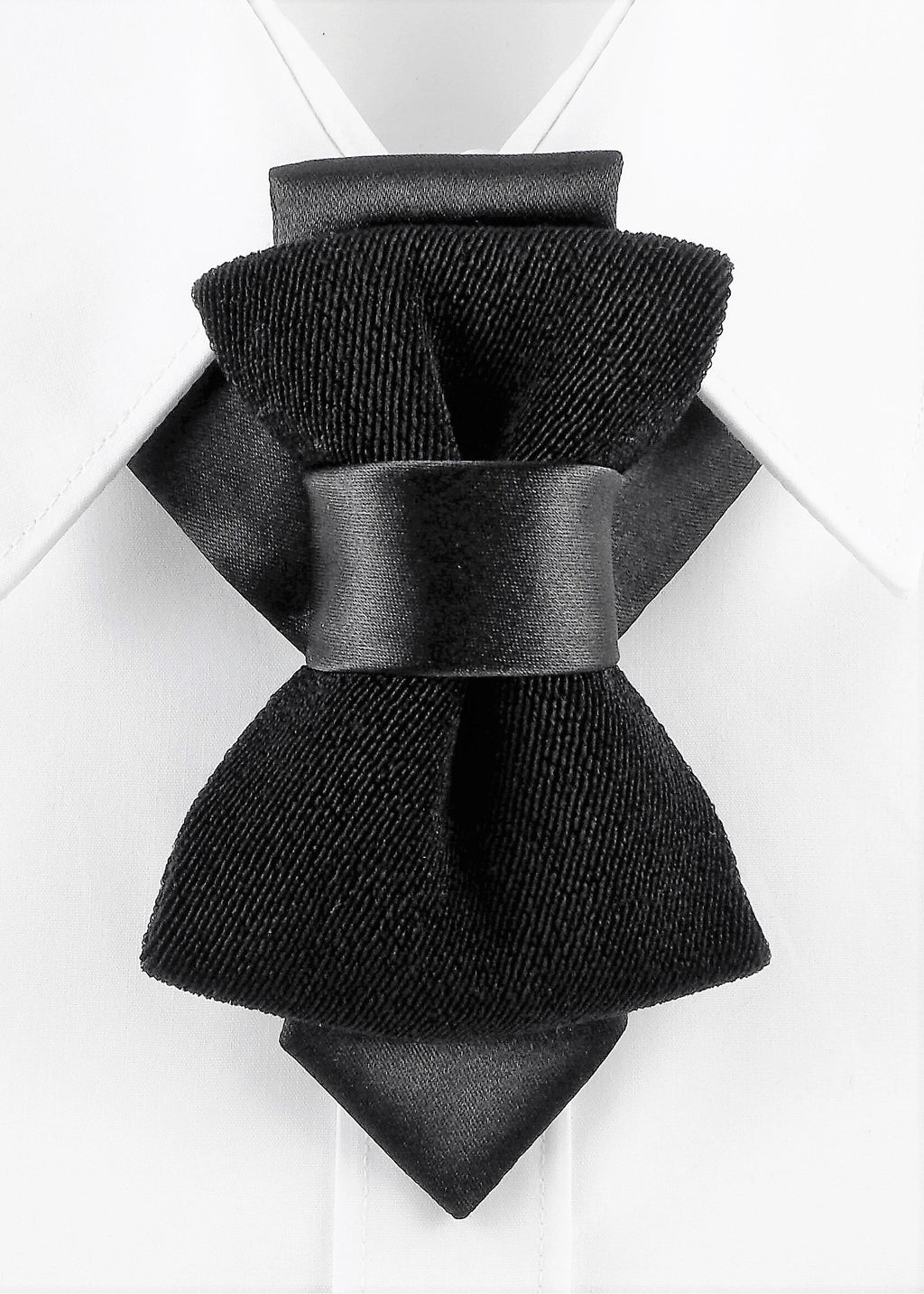 Bow Tie, Tie for wedding suite BLACK VELVET hopper tie Bow tie