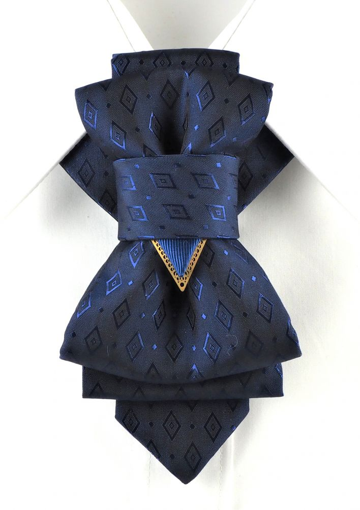Bow Tie, Tie for wedding suite THE BLUE RHOMBUS hopper tie Bow tie