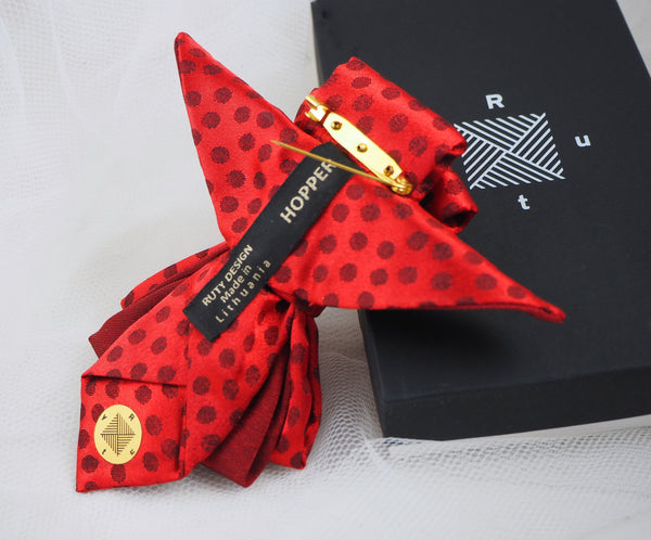 HOPPER TIE THE RED BIRD created by Ruty design, Hopper tie, Bow Tie, Tie