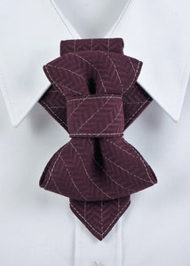 Bow Tie, Tie for wedding suite MERLOT II hopper tie Bow tie, groomer tie