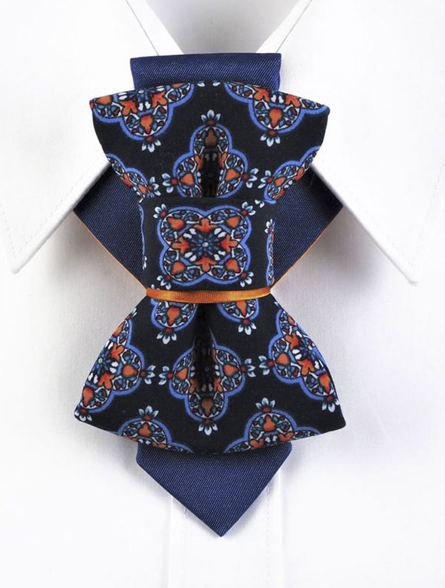 Bow Tie, Tie for wedding suite HOPPER TIE ARABIAN NIGHT hopper tie hand made and high-quality, Stylish Men's Neckwear