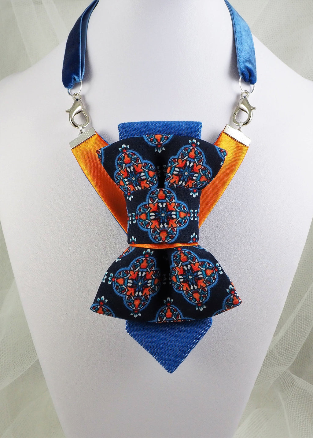 ARABIAN NIGHT I - Ruty design, Tie for wedding, Hopper tie - original patented hand made vertical bow tie