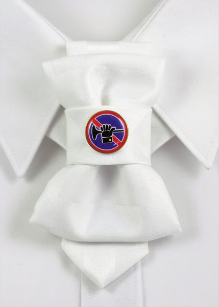 Bow Tie, Tie for wedding suite BADGE - SILENCE hopper tie DECOR ELEMENT