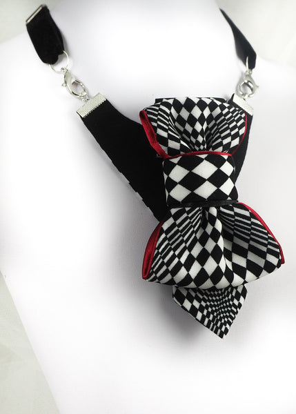 Bow Tie, Tie for wedding suite LADY CHESS PLAYER hopper tie Bow tie