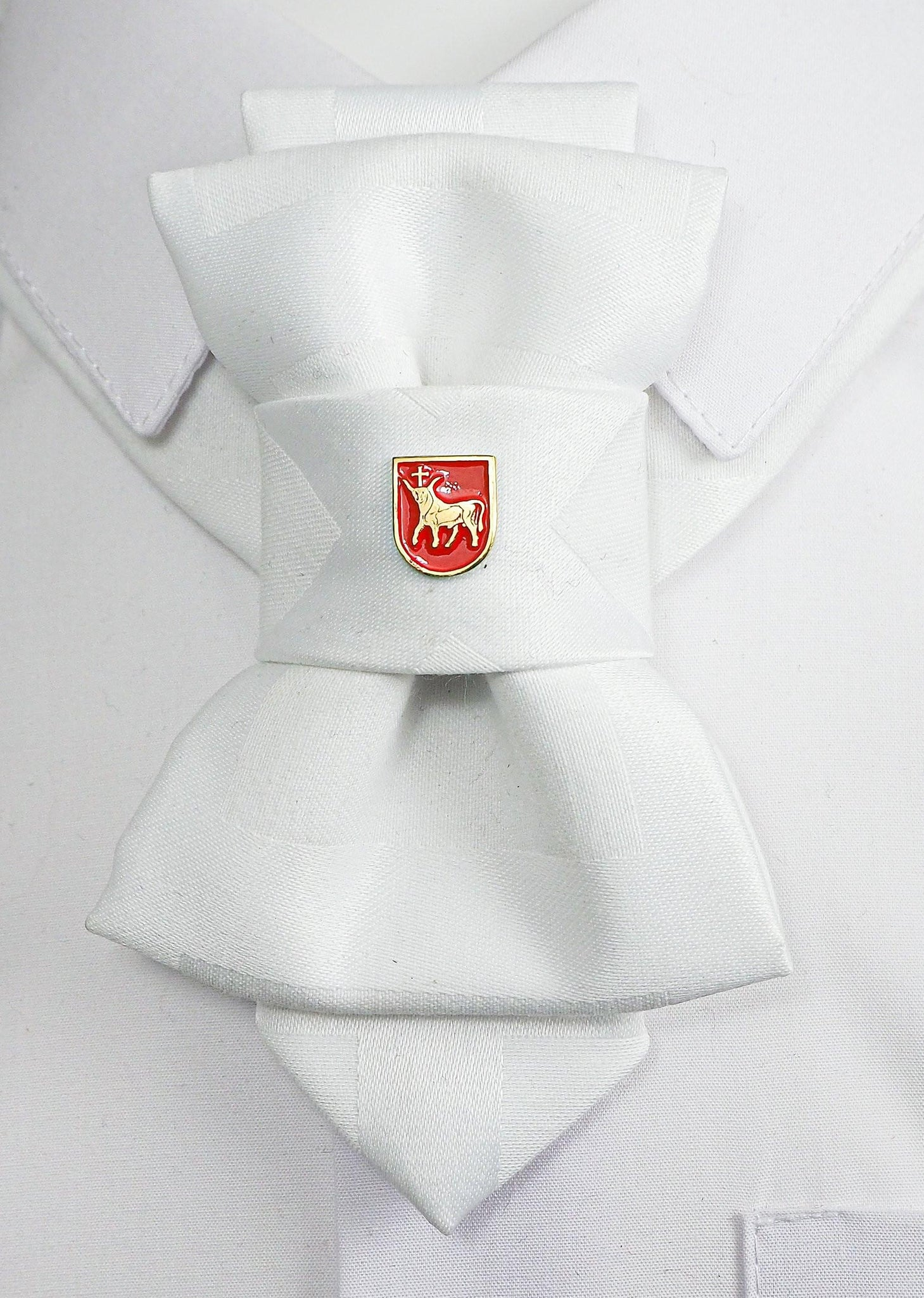 Bow Tie, Tie for wedding suite BADGE - COAT OF ARMS OF KAUNAS hopper tie DECOR ELEMENT