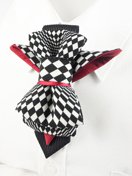 HOPPER TIE CHESS BIRD created by Ruty Design Ladies Adjustable Pre-tied Bowtie
