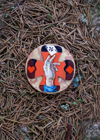 BROOCH CHOICE created by painter Marijus Piekuras