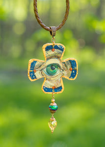 THE NECKLACE PENDANT EYE created by Marijus Piekuras created by painter Marijus Piekuras