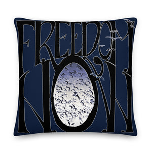 Coussin Fly On bleu nuit