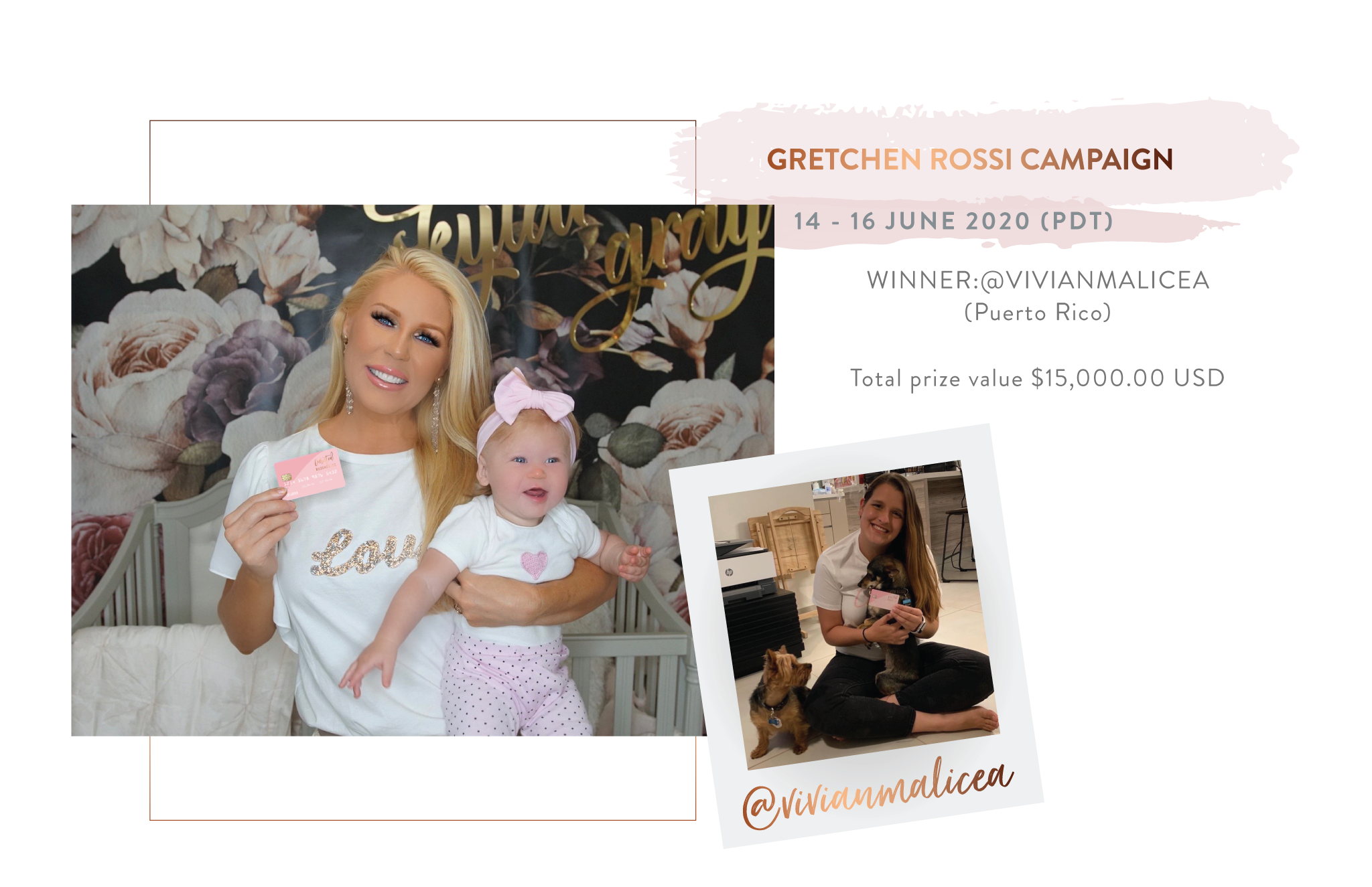 Curated Businesses Winner | Gretchen Rossi campaign