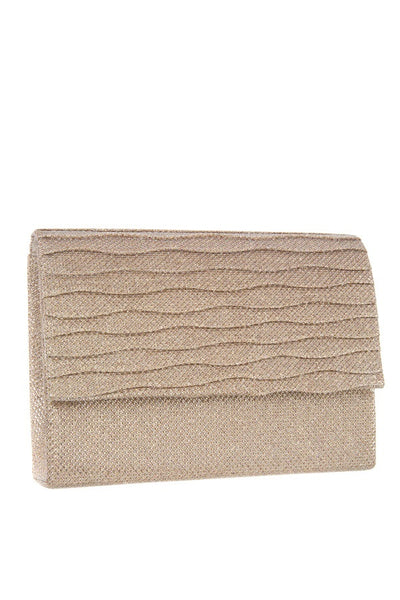 Shimmery square clutch evening bag
