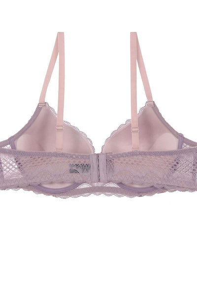 Ladies two tone geo lace bra w/ underwire