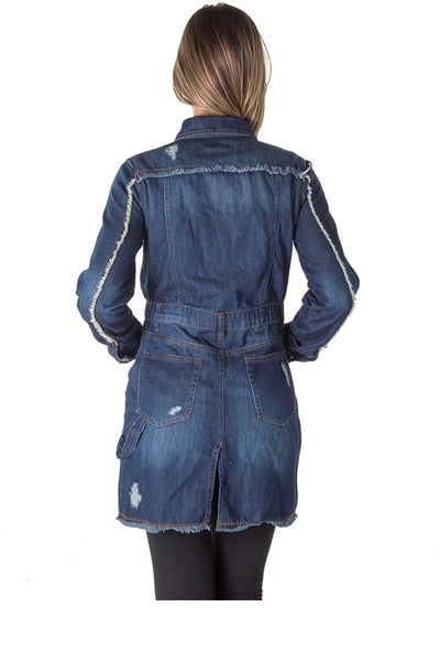 Ladies fashion denim dress jacket