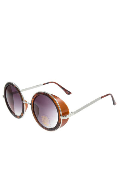 Round side shield sunglasses