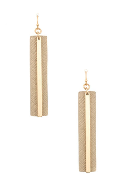Ladies vertical bar long pendant necklace