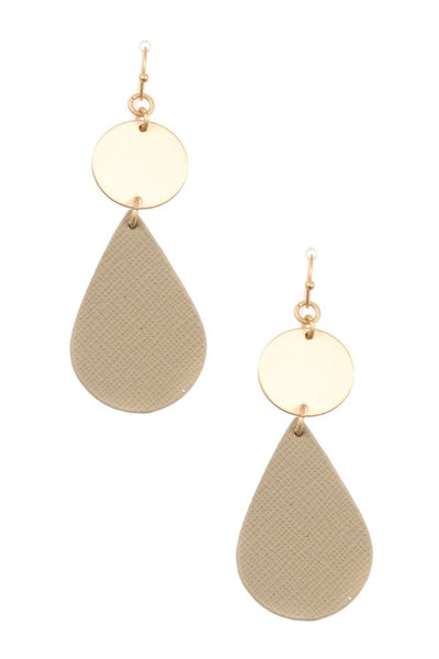 Ladies fashion disk link teardrop earring