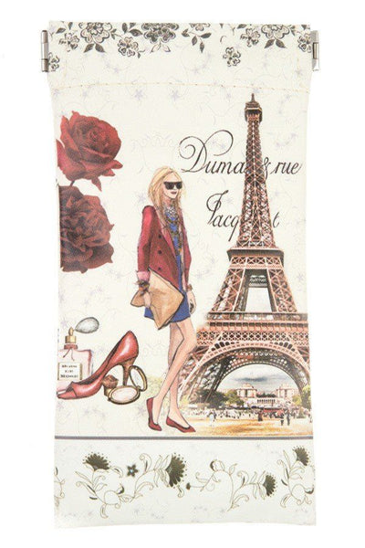 Paris fashion girl snap bag case