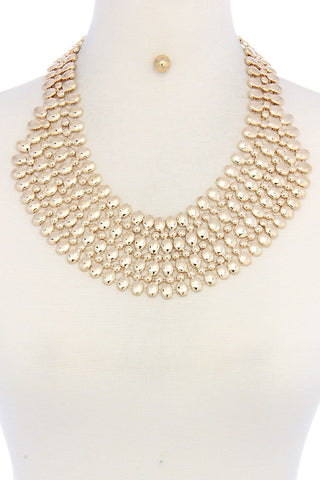 Multi fashion rich necklace and earring set