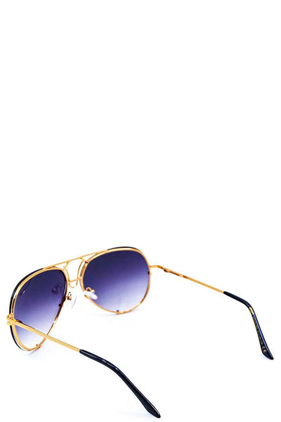 Rimless Trendy Aviators Spring Hinge Sunglasses