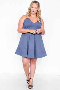 Plus Size Evening Skater Mini Dress