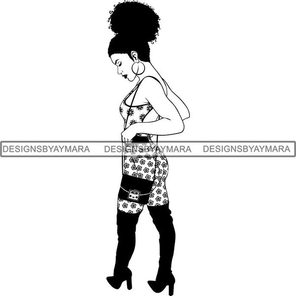 Afro Woman SVG Goddess Dope Diva Melanin .SVG Cut Files For Silhouette and Cricut