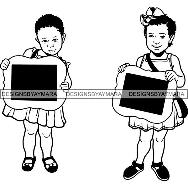Back to School Kid Student Education Supplies .SVG Cut Files for Silhouette and Cutting