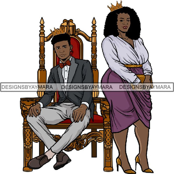 King and Queen Rey Reina Couple Life Goals PNG Print Files Not For Cutting