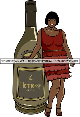 Whiskey Goddess Black Woman Sexy Melanin Nubian Liqueur Beverage Alcohol PNG File For Print Not For Cutting Cut Files For Silhouette and Cricut