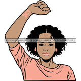Strong Afro Woman SVG Cancer Survivor Cutting Files For Silhouette Cricut and More