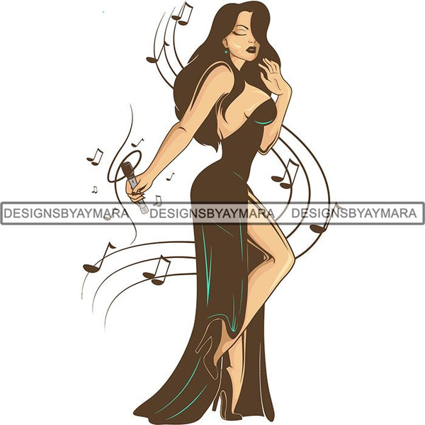 Afro Beautiful Woman Goddess Diva Classy Lady .SVG Cut Files For Silhouette and Cricut
