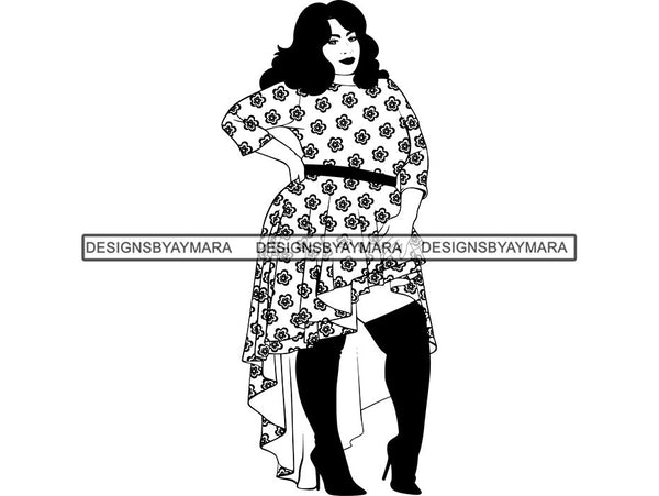 Afro Beautiful BBW Woman Goddess Diva Classy Lady .SVG Cut Files For Silhouette and Cricut