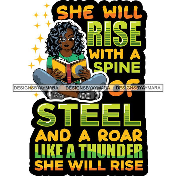 Afro Lola Reading Education Smart Woman Quotes .SVG Cutting Files For Silhouette Cricut and More!