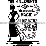 Black Queen Nubian Melanin Quotes .SVG Files For Silhouette and Cricut