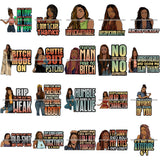 Bundle 20 Afro Woman Dreadlocks Locs Hairstyle Gangster Bad Ass Quotes .SVG Cutting Files For Silhouette Cricut and More!