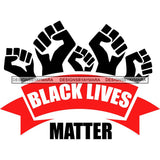 Black Lives Matter Humanity Social Protest Justice Racism Movement SVG PNG JPG Vector Cutting Files