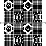 Kente African Pattern African American Culture SVG Cutting Files For Cricut and Silhouette